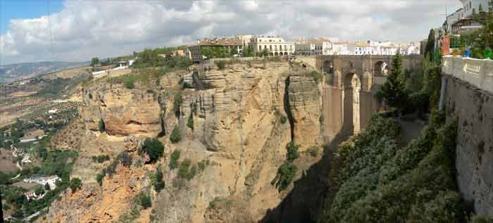 Ronda Map of the hilltop City gorge and bridge information – Tourist Map Of Ronda Spain