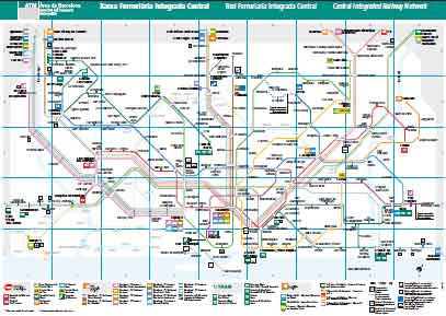 Renfe Rail Map Barcelona Area